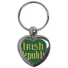 The Irish Republic Flag (1916, 1919 1922) Key Chains (heart)  by abbeyz71