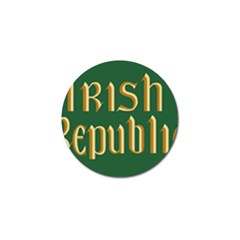 The Irish Republic Flag (1916, 1919-1922) Golf Ball Marker (10 Pack) by abbeyz71