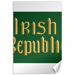 The Irish Republic Flag (1916, 1919 1922) Canvas 24  X 36  by abbeyz71