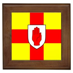 Flag Of The Province Of Ulster  Framed Tiles by abbeyz71