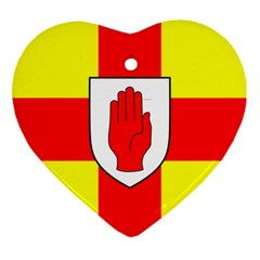 Flag Of The Province Of Ulster  Ornament (heart) by abbeyz71