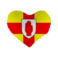 Flag Of The Province Of Ulster  Standard 16  Premium Flano Heart Shape Cushions by abbeyz71