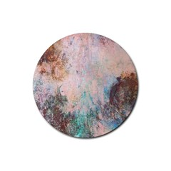 Cold Stone Abstract Rubber Coaster (round)  by digitaldivadesigns
