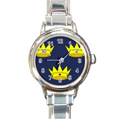 Flag Of Irish Province Of Munster Round Italian Charm Watch