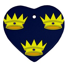 Flag Of Irish Province Of Munster Ornament (heart) by abbeyz71