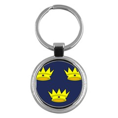 Flag Of Irish Province Of Munster Key Chains (round)  by abbeyz71
