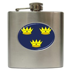 Flag Of Irish Province Of Munster Hip Flask (6 Oz) by abbeyz71