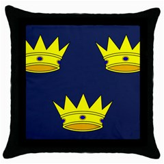 Flag Of Irish Province Of Munster Throw Pillow Case (black) by abbeyz71