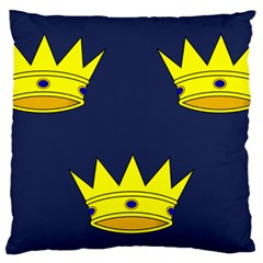 Flag Of Irish Province Of Munster Large Cushion Case (one Side) by abbeyz71