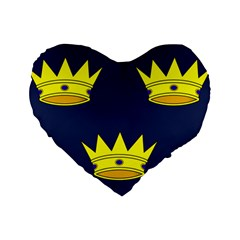 Flag Of Irish Province Of Munster Standard 16  Premium Flano Heart Shape Cushions by abbeyz71