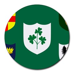 Ireland National Rugby Union Flag Round Mousepads by abbeyz71