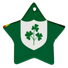 Ireland National Rugby Union Flag Ornament (star)