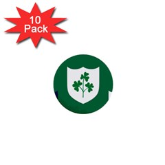Ireland National Rugby Union Flag 1  Mini Buttons (10 Pack)  by abbeyz71
