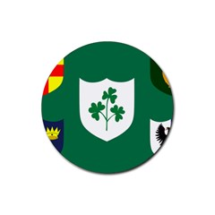 Ireland National Rugby Union Flag Rubber Round Coaster (4 Pack)  by abbeyz71