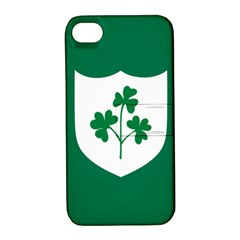 Ireland National Rugby Union Flag Apple Iphone 4/4s Hardshell Case With Stand by abbeyz71