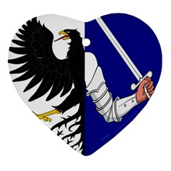 Flag Of Connacht Heart Ornament (two Sides) by abbeyz71