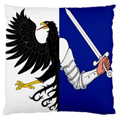 Flag Of Connacht Large Flano Cushion Case (one Side) by abbeyz71