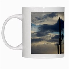 Cactus Sunset White Mugs by JellyMooseBear