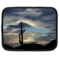 Cactus Sunset Netbook Case (xl)  by JellyMooseBear