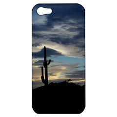 Cactus Sunset Apple Iphone 5 Hardshell Case by JellyMooseBear