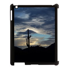 Cactus Sunset Apple Ipad 3/4 Case (black) by JellyMooseBear
