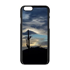 Cactus Sunset Apple Iphone 6/6s Black Enamel Case by JellyMooseBear