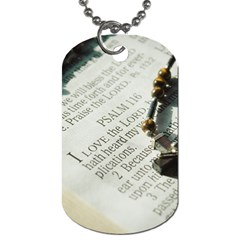 I Love The Lord Dog Tag (one Side) by JellyMooseBear