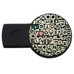 Love Usb Flash Drive Round (4 Gb) by JellyMooseBear