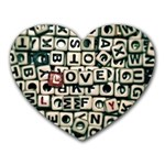 Love Heart Mousepads Front