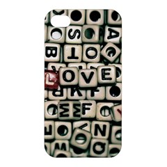 Love Apple Iphone 4/4s Premium Hardshell Case by JellyMooseBear