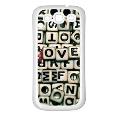 Love Samsung Galaxy S3 Back Case (white) by JellyMooseBear