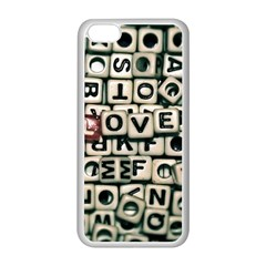 Love Apple Iphone 5c Seamless Case (white) by JellyMooseBear