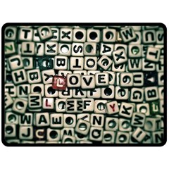 Love Double Sided Fleece Blanket (large)  by JellyMooseBear
