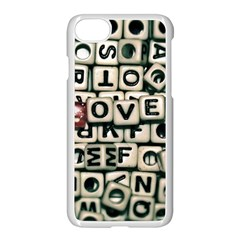 Love Apple Iphone 7 Seamless Case (white) by JellyMooseBear