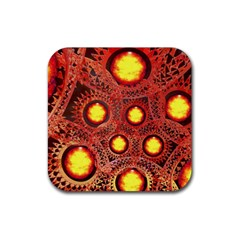 Mechanical Universe Rubber Square Coaster (4 Pack)  by linceazul