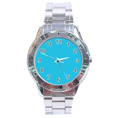 Neon Color   Brilliant Arctic Blue Stainless Steel Analogue Watch by tarastyle