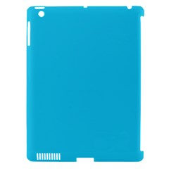 Neon Color   Brilliant Arctic Blue Apple Ipad 3/4 Hardshell Case (compatible With Smart Cover) by tarastyle