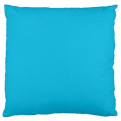 Neon Color   Brilliant Arctic Blue Large Cushion Case (one Side) by tarastyle