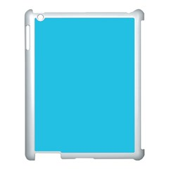 Neon Color   Brilliant Arctic Blue Apple Ipad 3/4 Case (white) by tarastyle