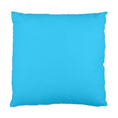 Neon Color   Brilliant Cerulean Standard Cushion Case (one Side) by tarastyle