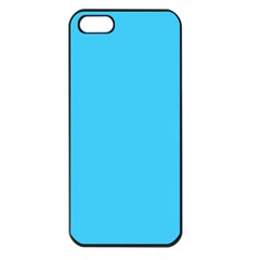 Neon Color   Brilliant Cerulean Apple Iphone 5 Seamless Case (black) by tarastyle