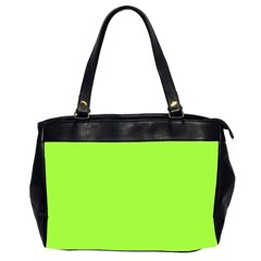 Neon Color   Brilliant Charteuse Green Office Handbags (2 Sides)  by tarastyle