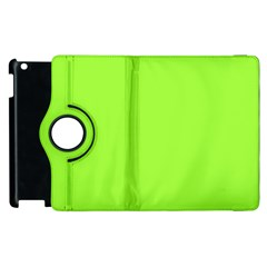 Neon Color   Brilliant Charteuse Green Apple Ipad 2 Flip 360 Case by tarastyle