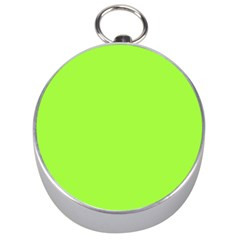 Neon Color   Brilliant Charteuse Green Silver Compasses by tarastyle