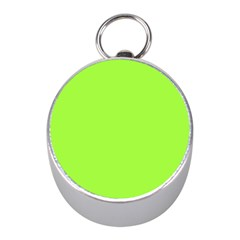 Neon Color   Brilliant Charteuse Green Mini Silver Compasses by tarastyle
