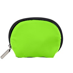 Neon Color   Brilliant Charteuse Green Accessory Pouches (small)  by tarastyle