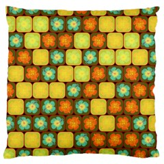 Random Hibiscus Pattern Large Cushion Case (one Side) by linceazul