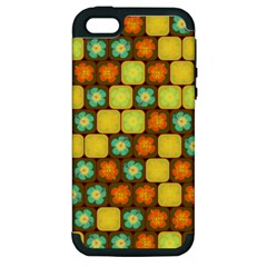 Random Hibiscus Pattern Apple Iphone 5 Hardshell Case (pc+silicone) by linceazul