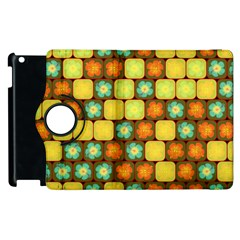 Random Hibiscus Pattern Apple Ipad 3/4 Flip 360 Case by linceazul