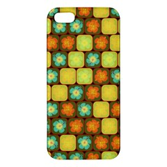 Random Hibiscus Pattern Apple Iphone 5 Premium Hardshell Case by linceazul